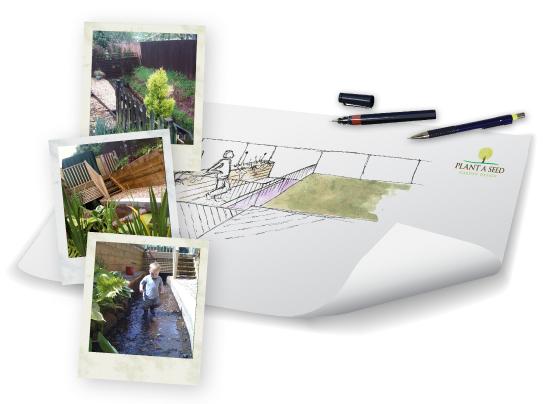 Western Lea Garden Plan Portfolio, Crediton, Devon by Plant A Seed Garden Design